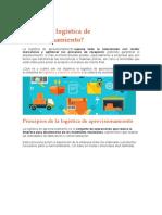 La logistica de abastecimiento (aprovisionamiento)