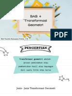 BAB 4 - Transformasi Geometri (Translasi dan Refleksi)