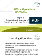 HOC3001A_Week 8 Lecture_Hotel Organizational structure and classification of hotel functional areas
