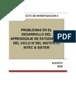 EJE 4 PROYECTO DE INVESTIGACION