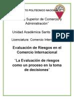 La Evaluación de riesgos como un proceso en la toma de decisiones
