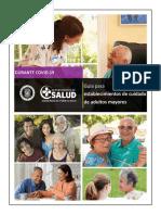 Guía Para Establecimientos de Cuidado de Adultos Mayores