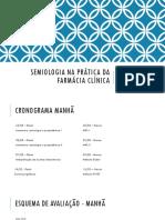 Semiologia na prática da farmácia clínica I