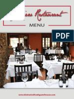 Seafood Restaurent Menu