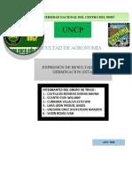 RESULTADOS DE GERMINACION (ISTA)