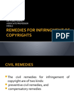 REMEDIES-INFRINGMENT-COPYRIGHT