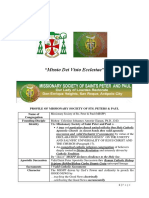MISSIONARY SOCIETY OF SAINTS PETER & PAUL _Valid Apostolic Succession and Profile