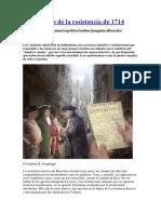 Las razones de la resistencia de 1714