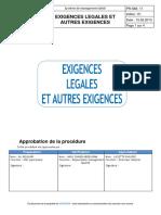 Exigences légales