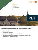 Swedbank lyfter riskfrågan
