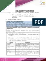 Guía de actividades y rúbrica de evaluación - Unidad 4 - Escenario 4 - Diseño de innovación didáctica para el aprendizaje