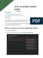 Tutoriel_ ouvrir un projet à partir d'un référentiel - Visual Studio _ Microsoft Docs.pdf