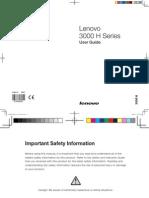 Lenovo 3000 H Series User Guide V3.0