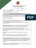 pre-practicum lesson template - grace foulis lesson plan 11 2 20