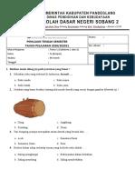 SOAL PTS KELAS 4 Tema 1 (Subtema 1 dan 2)