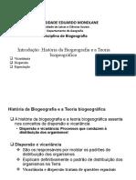 03 Introducao_Historia da Biogeografia_Teoria biogeografica
