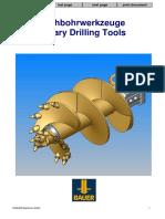 Bauer Drilling Toolsbohrwerkzeuge