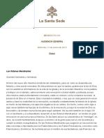 CATEQUESIS SS BENEDICTO XVI SOBRE LAS ÓRDENES MENDICANTES