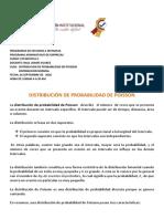 GUIA Nº2  DE DITRIBUCION DE POISSON Y  DISTRIBUCION NORMAL