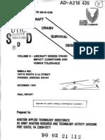 Aircraft Crash Survival Design Guide