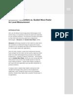 Ultrasonic Transmitters vs. Guided Wave Radar for Level Measurement (White Paper)