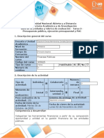 Guía de actividades y rúbrica de evaluación - Tarea 3 - Presupuesto Público, Ejecución presupuestal y PAC (1) (2) (1).docx