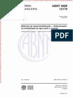 NBR 12170 - Materiais de impermeabilização - Determinação da potabilidade da água após o contato