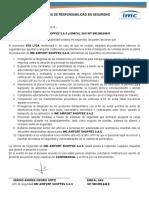 ACUERDO DE RESPONSABILIDAD EN SEGURIDAD EMICAL S.A.S  2016