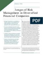 Challenges of Risk Management