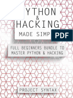 Python and Hacking Made Simple Full Beginners Bundle To Master Python  Hacking by Project Syntax (z-lib.org).epub