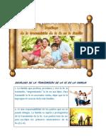 Decálogo de la transmisión de la fe en la familia