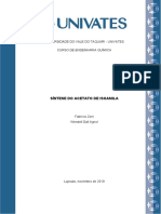 Relatório SÍNTESE DO ACETATO DE ISOAMILA - Fabrício Zeni e Wendell Dall Agnol.docx
