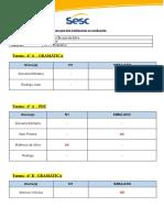 Planilha de provas não realizadas PDT e GraM
