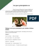 Diálogos en italiano.