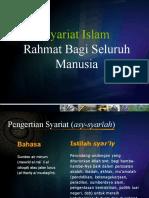 Syariah Islam Rahmat Bagi Semua