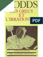 E.R. Dodds, Les Grecs et l_'irrationnel