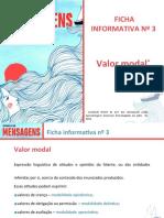 Ficha informativa nº 3 - Valor modal