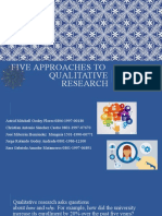qualitative 5 approaches
