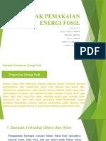 DAMPAK PEMAKAIAN ENERGI FOSIL (besok)