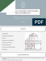 Renacimiento Sistemas Constructivos