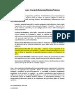 Marco Legal Venezolano para el manejo de Sustancias y Materiales Peligrosos