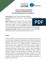 PROJETO DE EXTENSÃO UNIVERSITÁRIA CONTANDO E CANTANDO HISTÓR