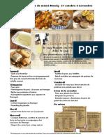 Menus de La Cuisine de Meme Moniq Du 31 Octobre Au 6 Novembre