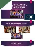 ANALISIS ALKOHOL PADA MINUMAN AMAMI