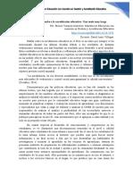 Articulo sobre  Acreditación Educativa