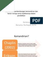 Karakteristik perkembangan kemandirian dan karier remaja serta implikasinya.pptx