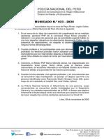 COMUNICADO Nº 23 INTERVENCIÓN POLICIAL CALLAO