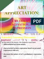GE 5 - Art Appreciation Lesson 2. Art Appreciation Creativity, Imagination, and Expression