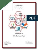 Online Business final shubham