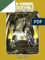 Advanced Fantasy Genre Rules v0.5